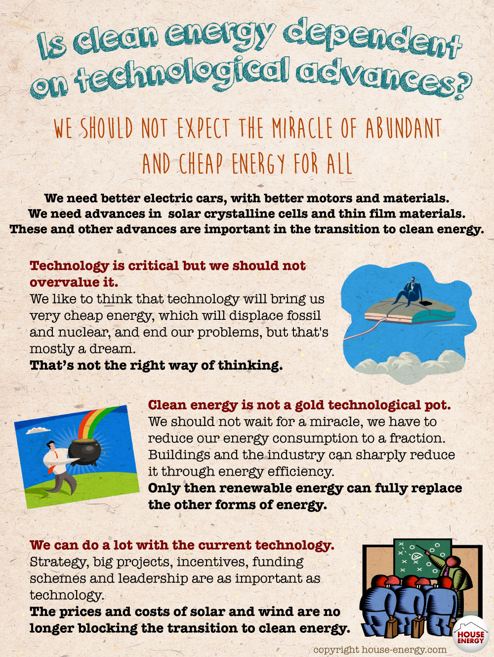 Is clean energy dependent on technological advances