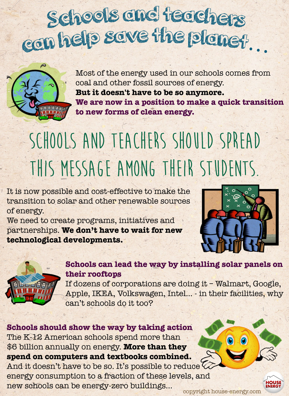 Teachers, green schools