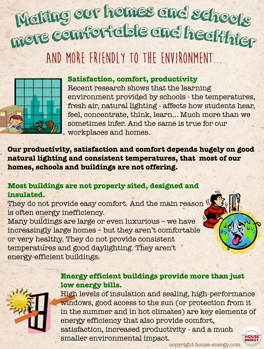 Comfortable and healthier homes and schools